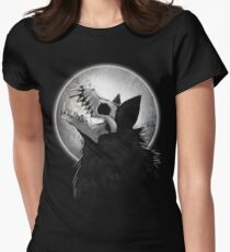 Skull Wolf Howl Women's Fitted T-Shirt