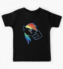 Rainbow Dash Don't Care Kids Tee