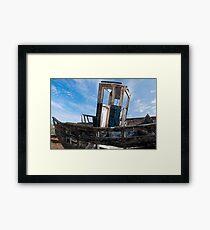 Blue Wreck Framed Print