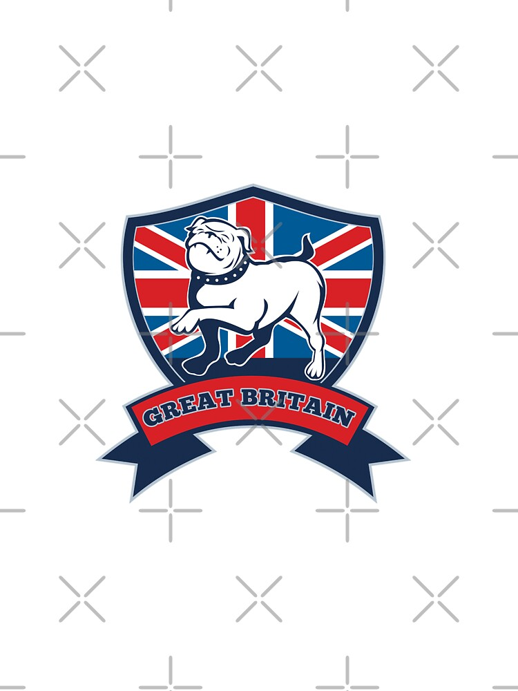 English bulldog Team Great Britain mascot by patrimonio