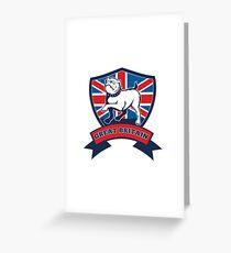English bulldog Team Great Britain mascot Greeting Card
