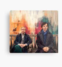 Watson & Sherlock Metal Print