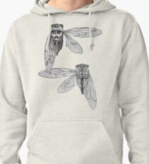 Cicada Study in Black and White Pullover Hoodie
