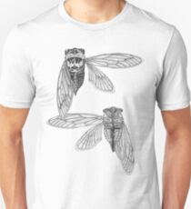 Cicada Study in Black and White T-Shirt