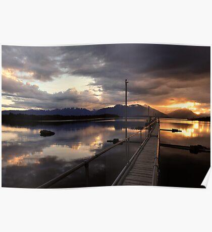 Beautiful Lake Te Anau. South Island, New Zealand Poster