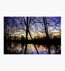 Colorful River Sunset Photographic Print