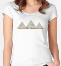Camiseta entallada de cuello ancho 3 Peaks Challenge