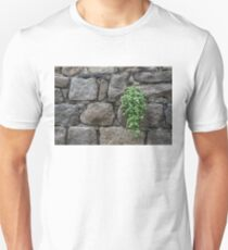 Life on Bare Rock - Little Pink Flowers on the Granite Wall Unisex T-Shirt