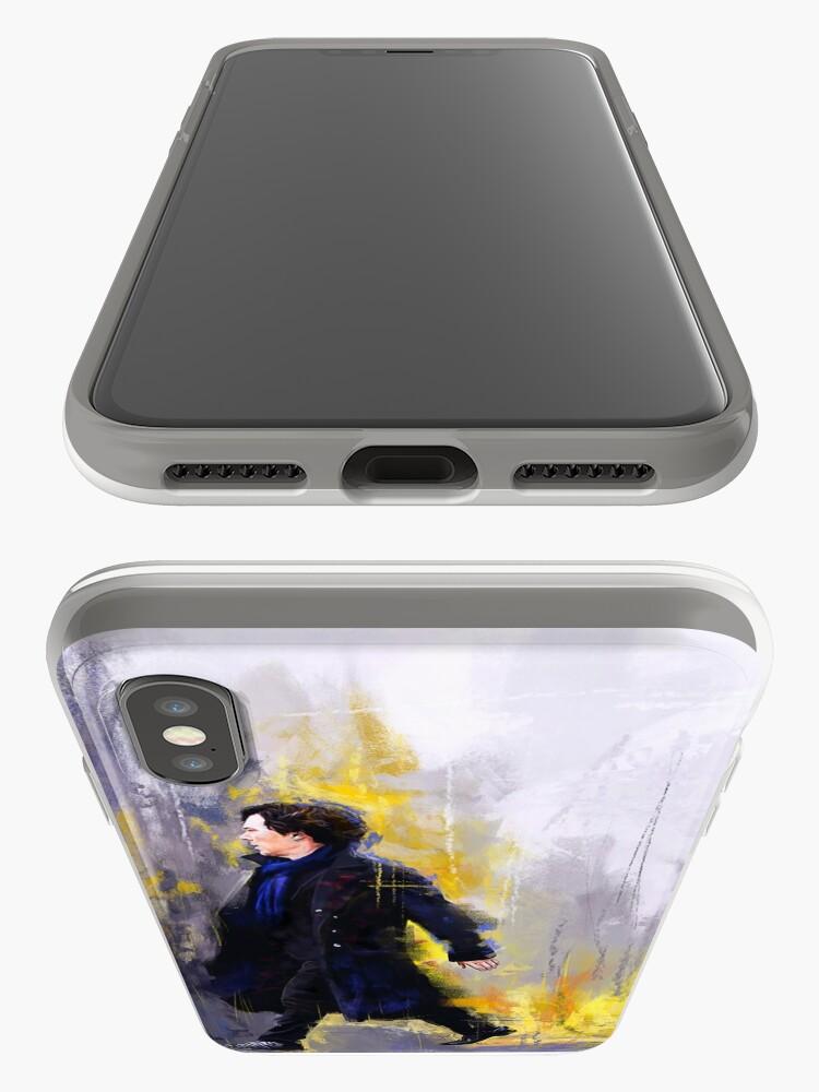 Alternative Ansicht von Gehender Sherlock iPhone-Hülle & Cover