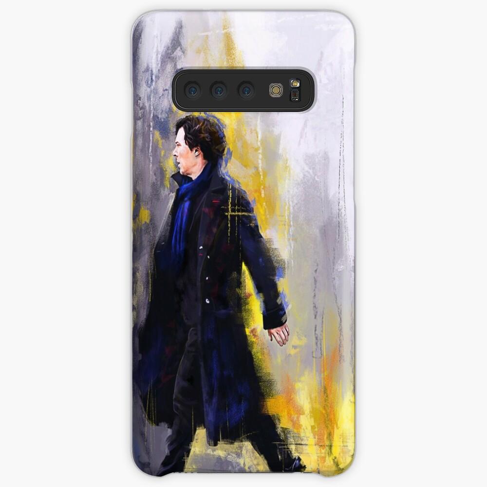 Gehender Sherlock Hülle & Klebefolie für Samsung Galaxy