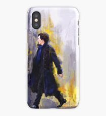Walking Sherlock iPhone Case