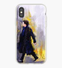 Walking Sherlock iPhone Case
