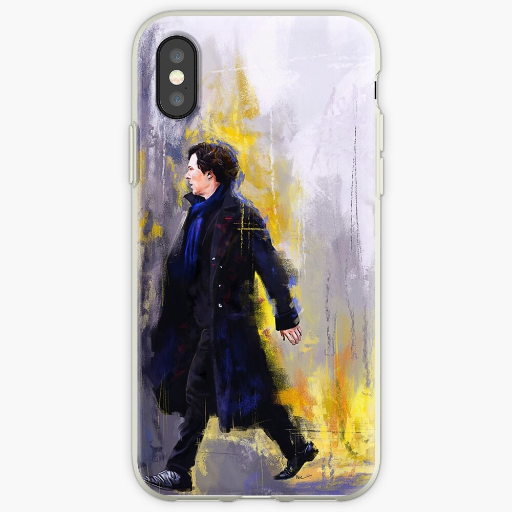 Gehender Sherlock iPhone-Hülle & Cover