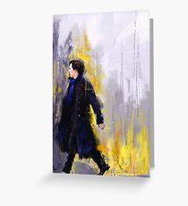 Walking Sherlock Greeting Card