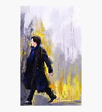 Walking Sherlock Photographic Print