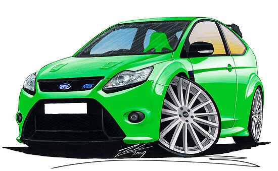 Ford Focus RS (Mk2) Green by yeomanscarart