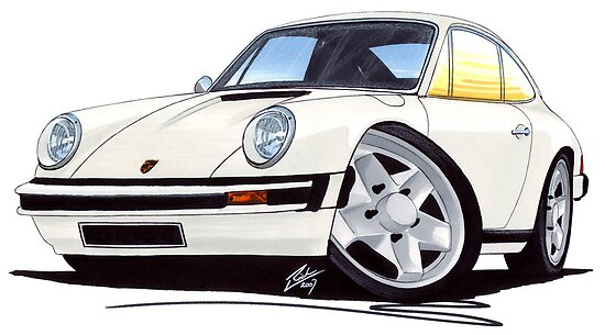 Porsche 911 White by Richard Yeomans