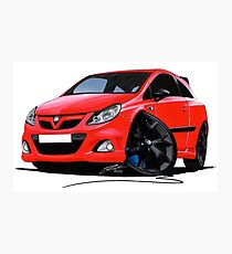Vauxhall Corsa VXRacing Red Photographic Print