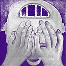 Depression 2012 in Blue Chalk by Darren Stein