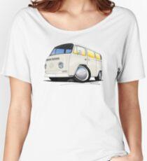 VW Bay Window Camper Van White Women's Relaxed Fit T-Shirt
