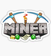 Minecraft Miner Shirt v.2 Sticker