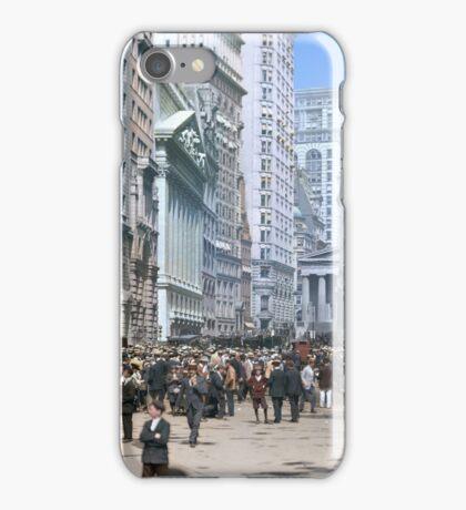 Curb Market in NYC, ca 1900 iPhone Case/Skin