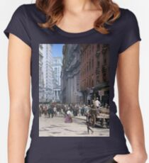 Curb Market in NYC, ca 1900 Women's Fitted Scoop T-Shirt