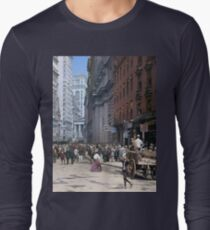 Curb Market in NYC, ca 1900 Long Sleeve T-Shirt