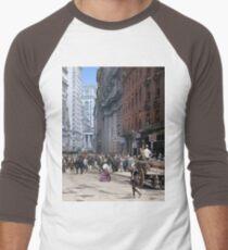 Curb Market in NYC, ca 1900 Men's Baseball ¾ T-Shirt