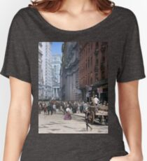 Curb Market in NYC, ca 1900 Women's Relaxed Fit T-Shirt
