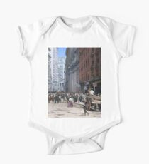 Curb Market in NYC, ca 1900 Short Sleeve Baby One-Piece