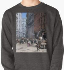 Curb Market in NYC, ca 1900 Pullover