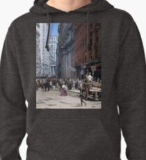 Curb Market in NYC, ca 1900 Pullover Hoodie