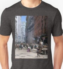 Curb Market in NYC, ca 1900 Slim Fit T-Shirt