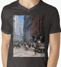 Curb Market in NYC, ca 1900 V-Neck T-Shirt