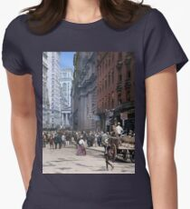 Curb Market in NYC, ca 1900 Women's Fitted T-Shirt