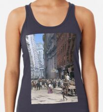 Curb Market in NYC, ca 1900 Racerback Tank Top