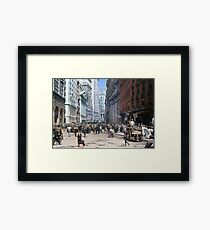 Curb Market in NYC, ca 1900 Framed Print