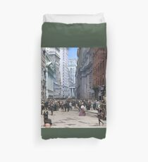 Curb Market in NYC, ca 1900 Duvet Cover