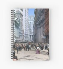 Curb Market in NYC, ca 1900 Spiral Notebook