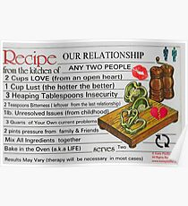 Recipe For Our Relationship Poster