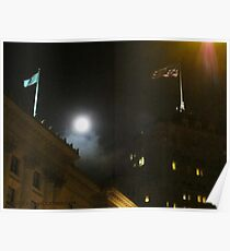 Moon Over Fairmont Poster