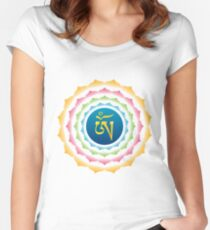 OM Tibetan Syllable Women's Fitted Scoop T-Shirt