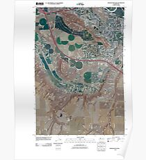 USGS Topo Map Washington State WA Badger Mountain 20110407 TM Poster