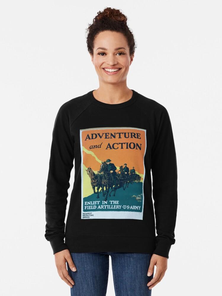 Alternative Ansicht von Adventure and action Enlist in the field artillery US Army Leichter Pullover