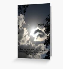"""""""Psalm 89:6""""  by Carter L. Shepard Greeting Card"""