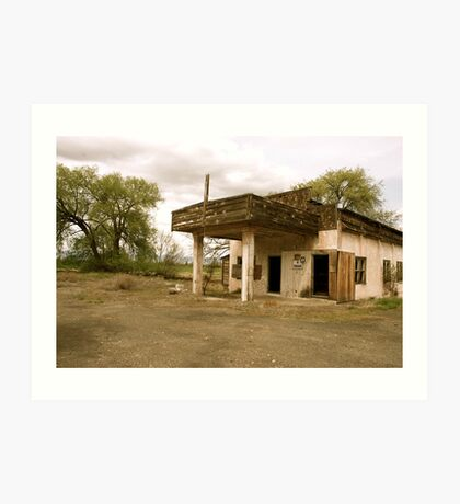 Old Yakima Gas Station Art Print