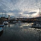 Across the harbour at dusk by StephenRB
