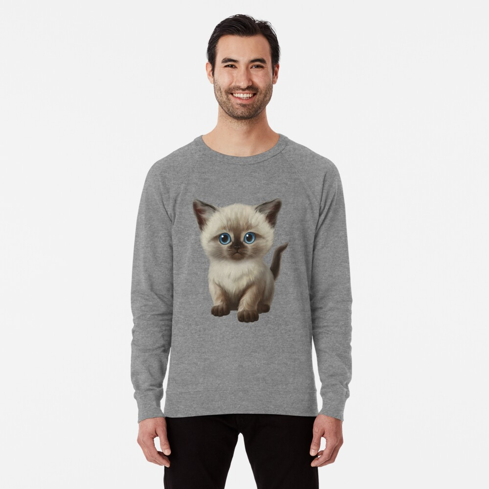 Cataclysm- Siamese Kitten Classic Lightweight Sweatshirt