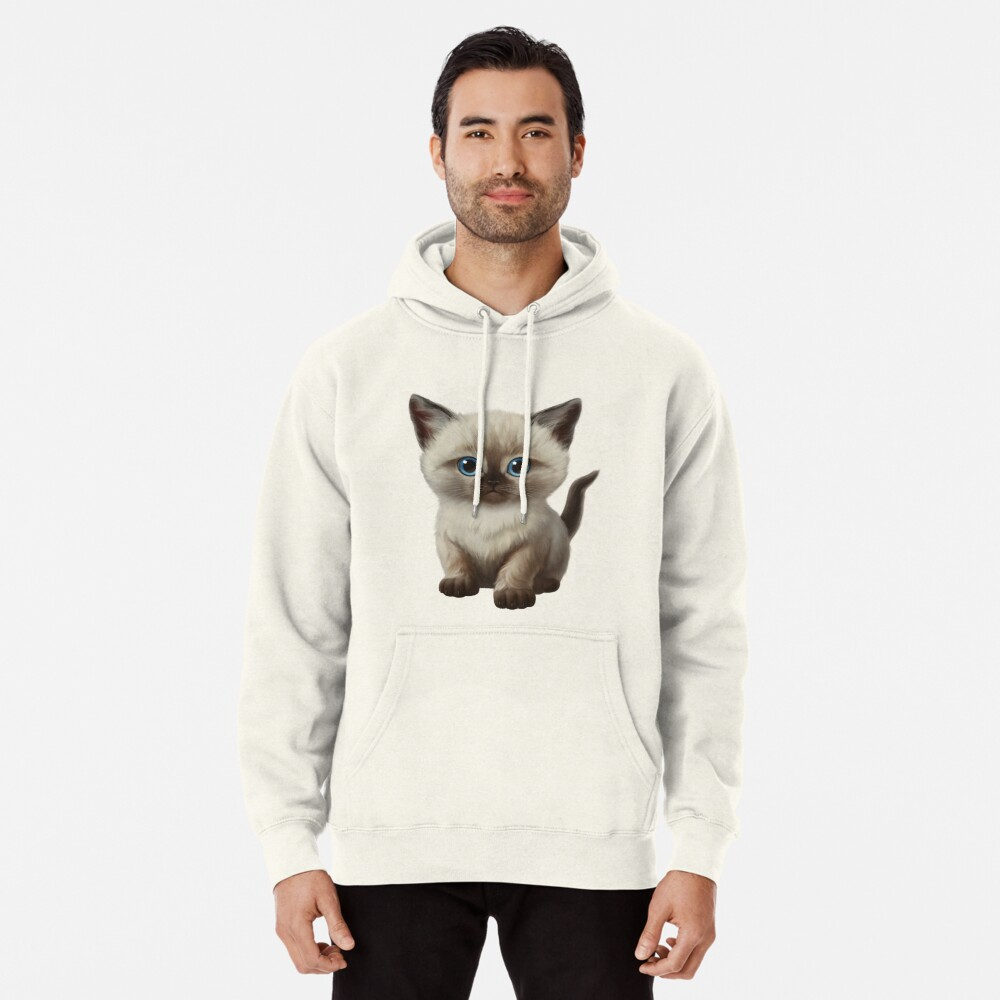 Cataclysm- Siamese Kitten Classic Pullover Hoodie